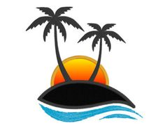 236x187 Palm Tree Sunset Clipart Decals, Clipart, Etc