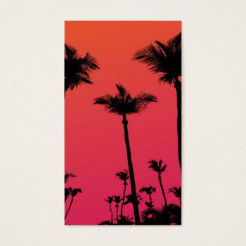 350x350 Palm Tree Silhouettes Business Cards Business Cards 100