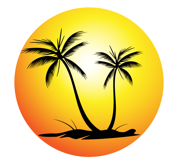 600x555 Palm Tree Silhouettes Vector Free 123freevectors