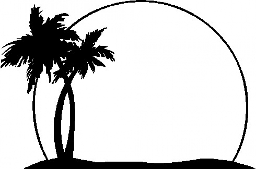 820x542 Palm Trees Clipart Png