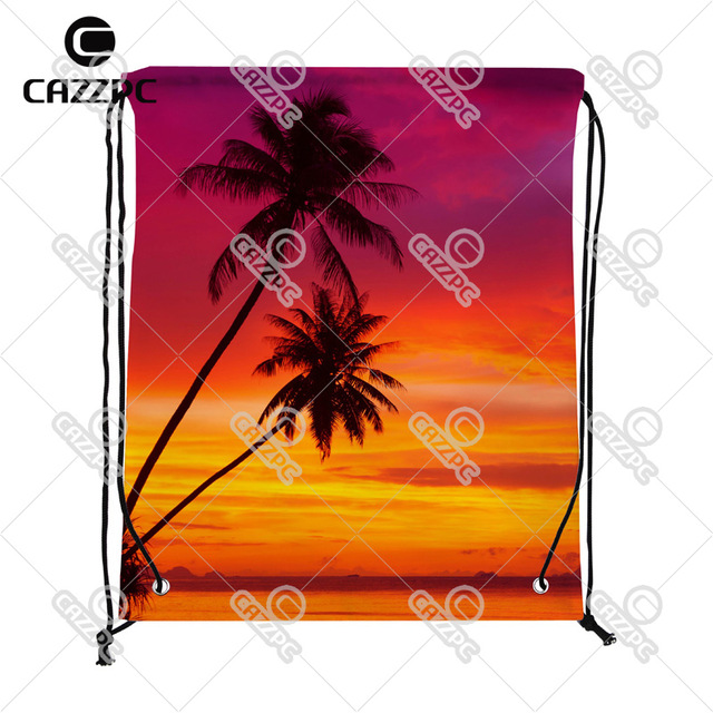 640x640 Palm Trees Silhouette On Sunset Summer Style Beach Print Custom