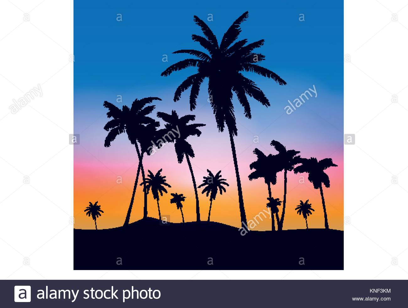 1300x982 Summer Palm Trees Tumblr Stock Vector Art Amp Illustration, Vector