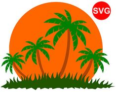 235x187 Summer Svg File With Palm Trees For Cricut And Silhouette