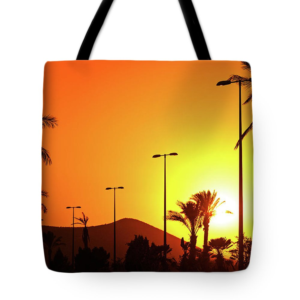 1000x1000 Sunset Tote Bag Featuring The Photograph Orange Andalusian Sunset