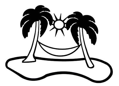 500x363 Palm Tree Clipart Black And White To Color Collection