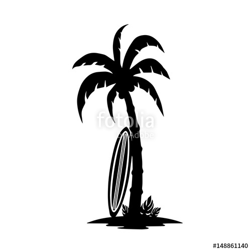 500x500 Palm Tree Icon, Vector Illustration Stock Image And Royalty Free
