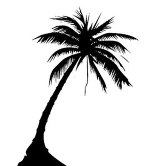 640x640 Silhouette Palm Tree Tattoo Design Art Tree Tattoo