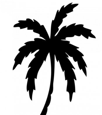 350x394 Top 10 Palm Tree Tattoo Designs