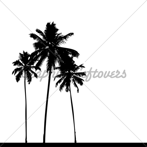500x500 Pricipessa's Tattoo Palm Tree Silhouette Clip Art