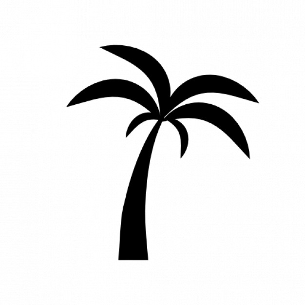 626x626 Palm Tree Silhouette 2 Icons Free Download