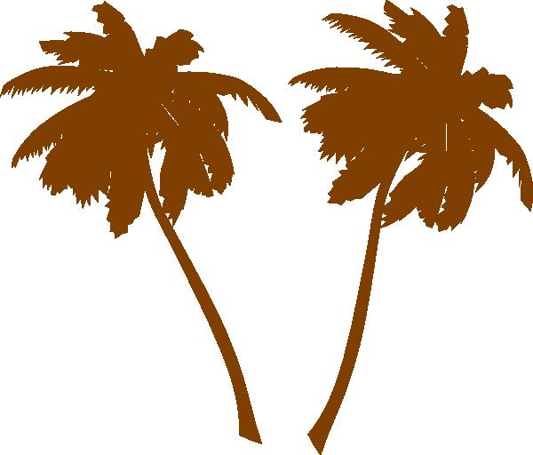 600x512 Brown Palm Trees Clip Art