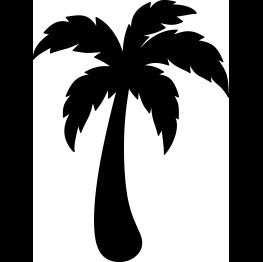 263x262 Free Svg Pdf Png Jpg Eps Palm Tree Silhouette Cricut