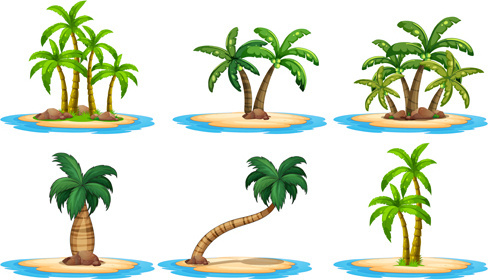 488x280 Coconut Palm Tree Silhouette Free Vector Download (9,935 Free