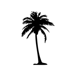 300x300 Free Clipart Palm Tree Silhouette Free Images
