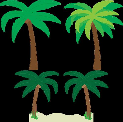 500x498 Palm Trees Silhouette Vector Drawing Public Domain Vectors