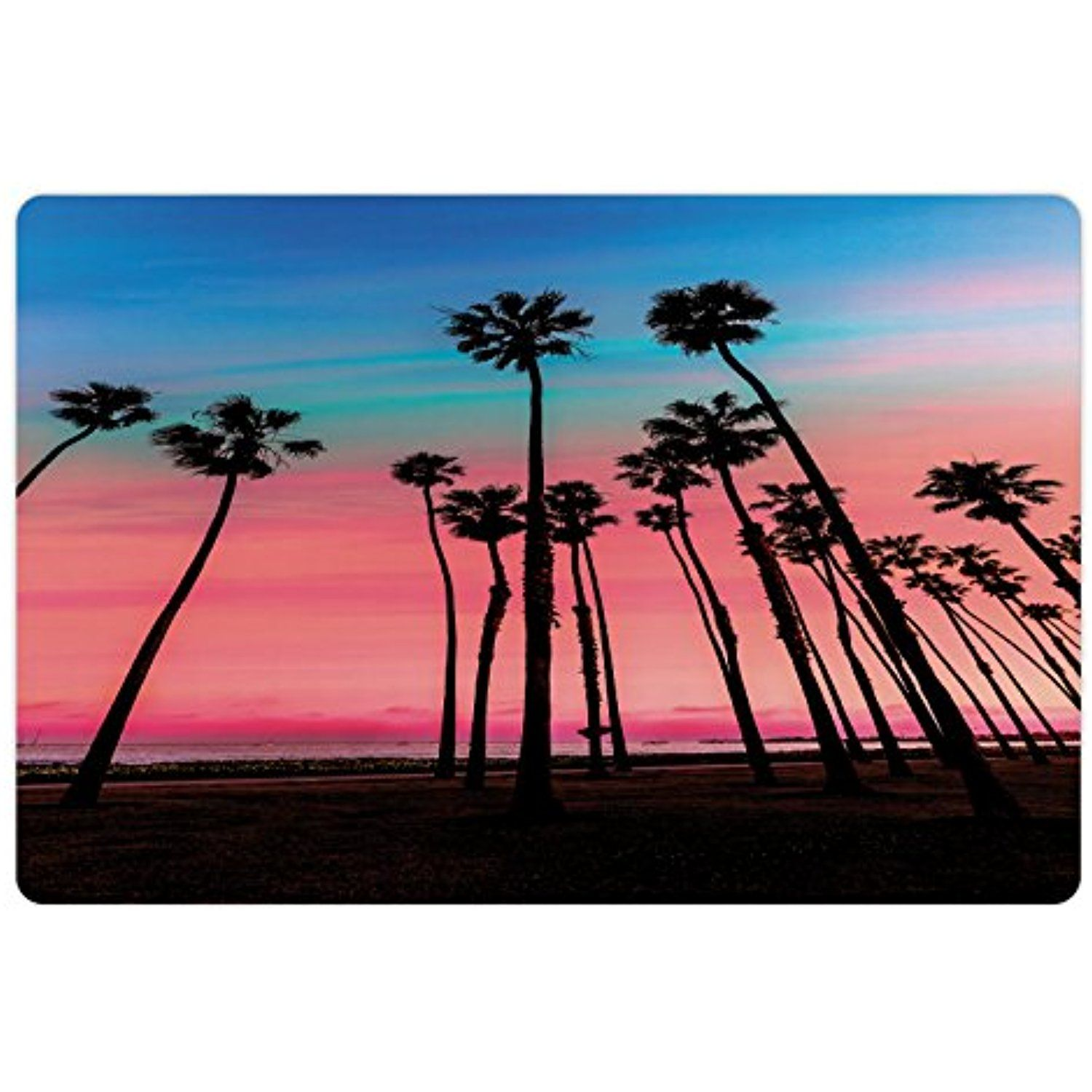 1500x1500 Palm Tree Pet Mats For Food And Water By Lunarable, Tree Rows
