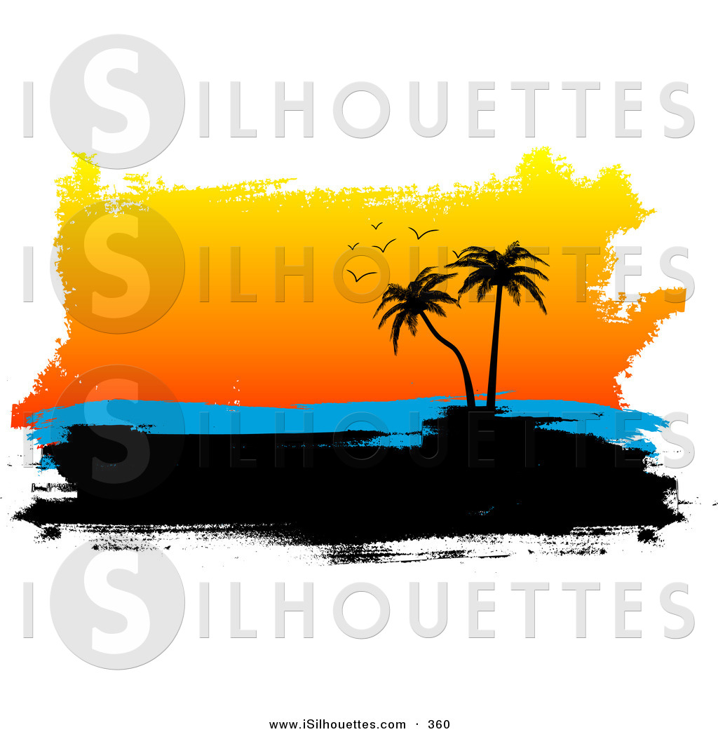 1024x1044 Silhouette Clipart Of A Black Silhouetted Tropical Island
