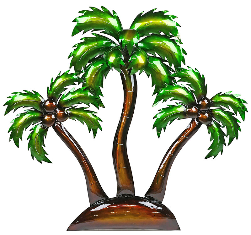 800x748 D Metal Island Palm Trees Wall Art Tree Silhouette For Outdoors