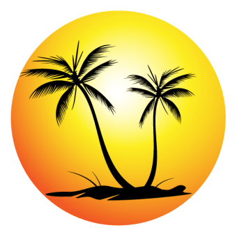 340x340 Palm Tree Silhouettes Vector Free 123freevectors