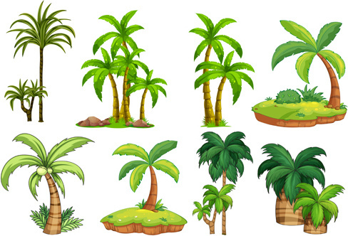 488x332 Coconut Palm Tree Silhouette Free Vector Download (9,935 Free