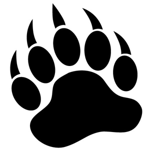 300x300 Grizzly Bear Silhouette Vector Clipart Panda