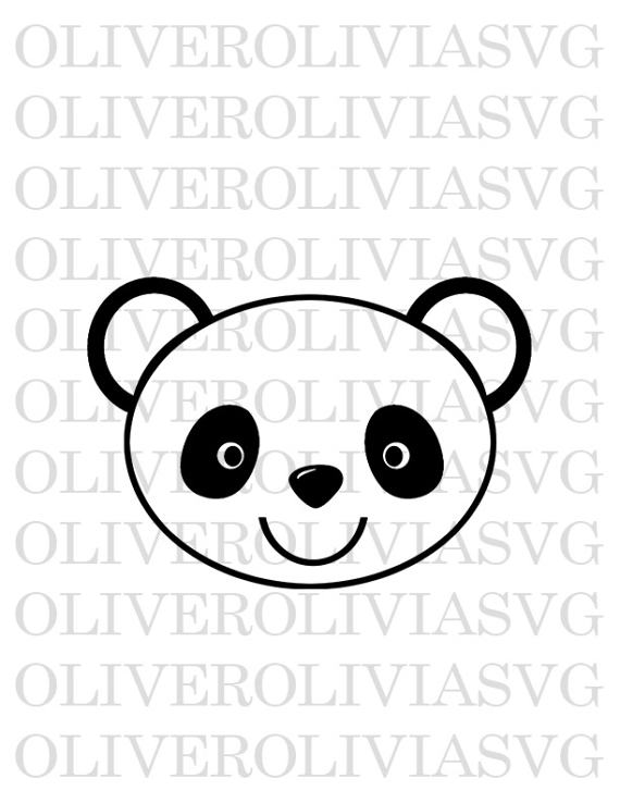 570x738 Panda Bear Silhouette Svg Bear Svg Cutting File Animalpanda Bear