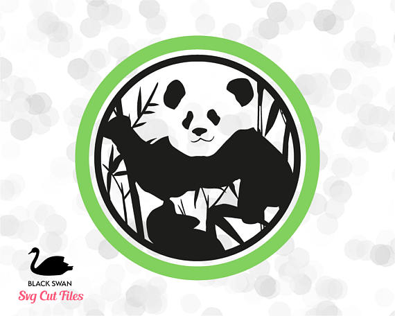 570x456 Svg Panda Bear Silhouette Eps, Svg, Dxf, Png Vector Instant