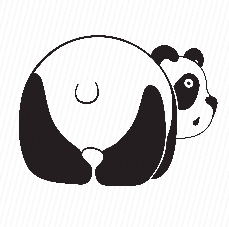 3000x2966 Panda Svg Files For Cricut Animal Dxf Silhouette Cricut