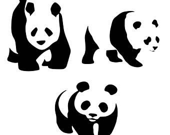 340x270 Panda Bear Svg Etsy