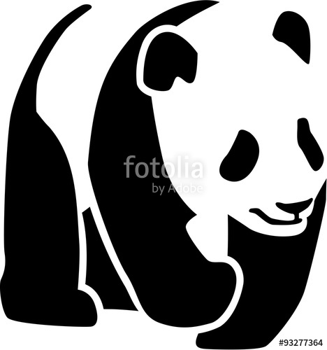 468x500 Panda Silhouette Stock Image And Royalty Free Vector Files