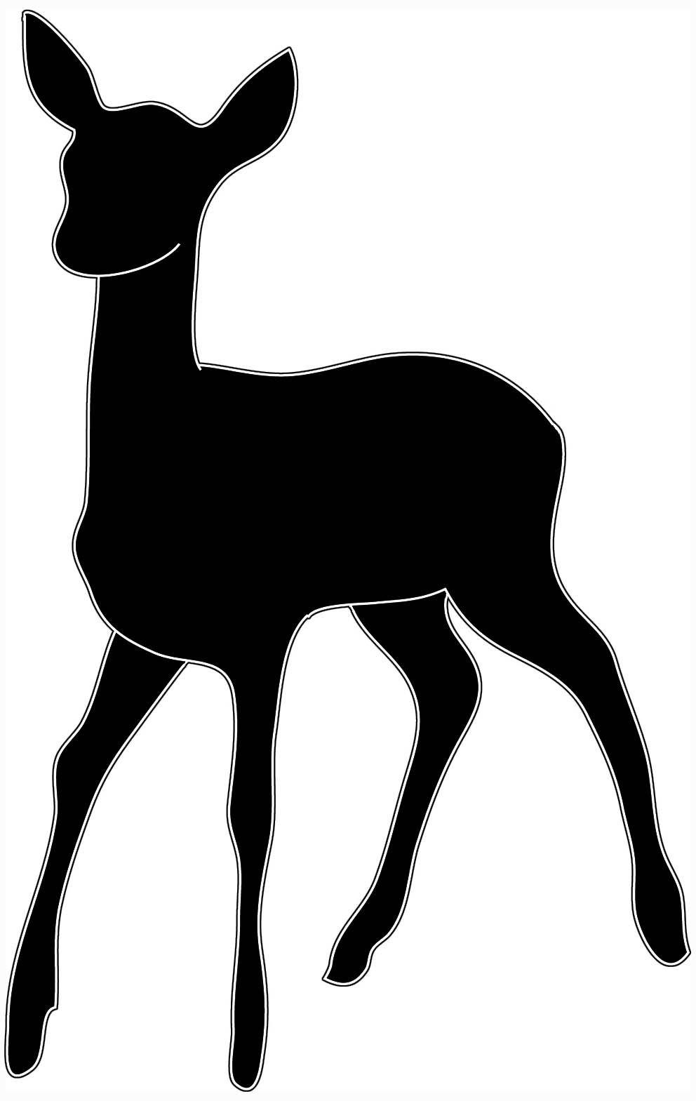992x1569 Deer Head Clipart Black And White Clipart Panda