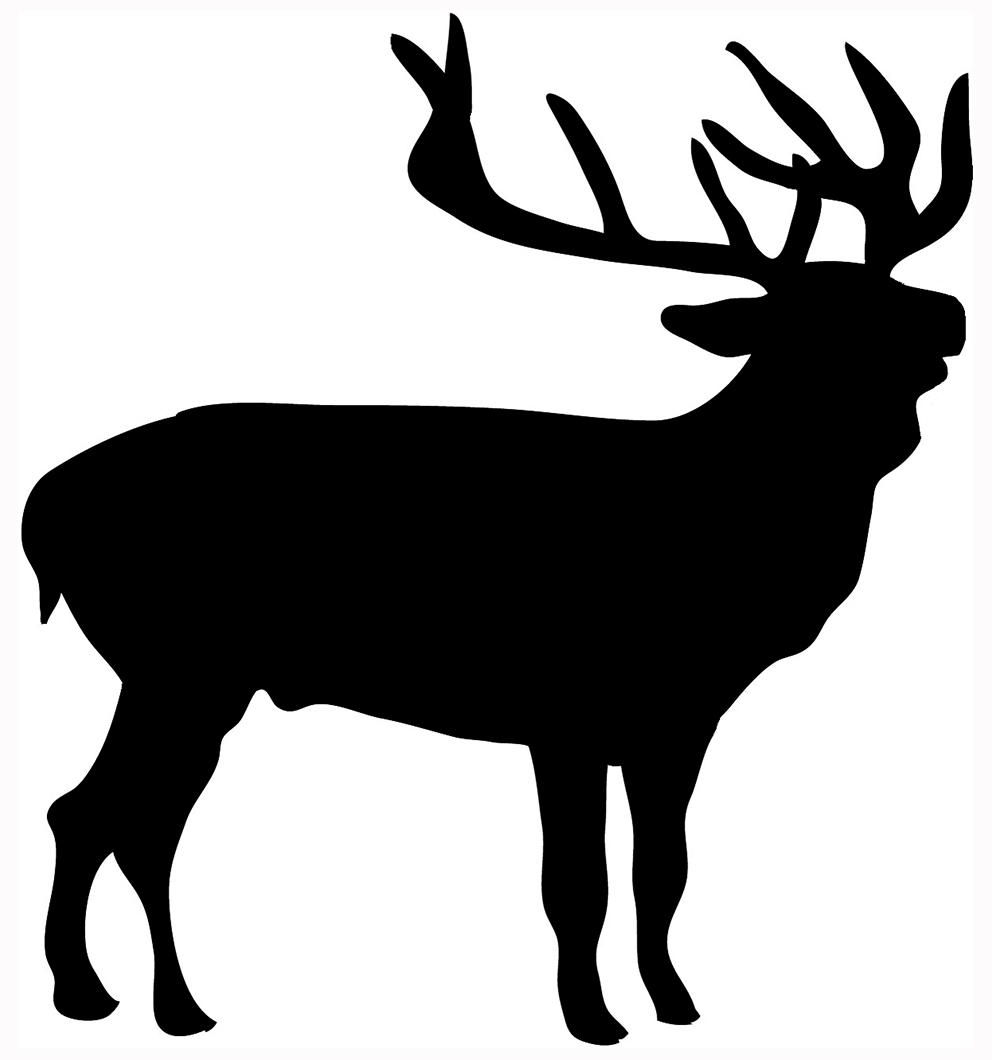 992x1060 Deer Silhouette Clipart
