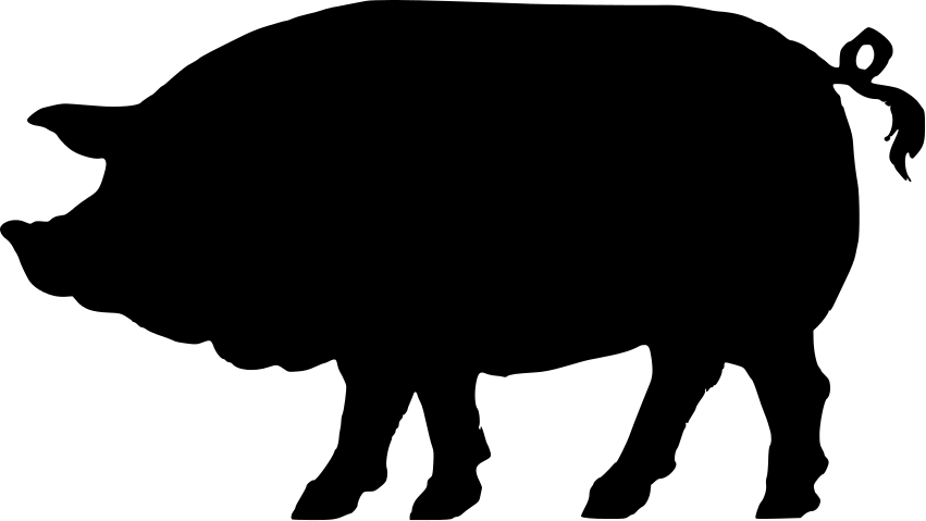 851x479 Pig Silhouette Images