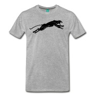 190x190 Panther Jumping Silhouette By Spreadshirt