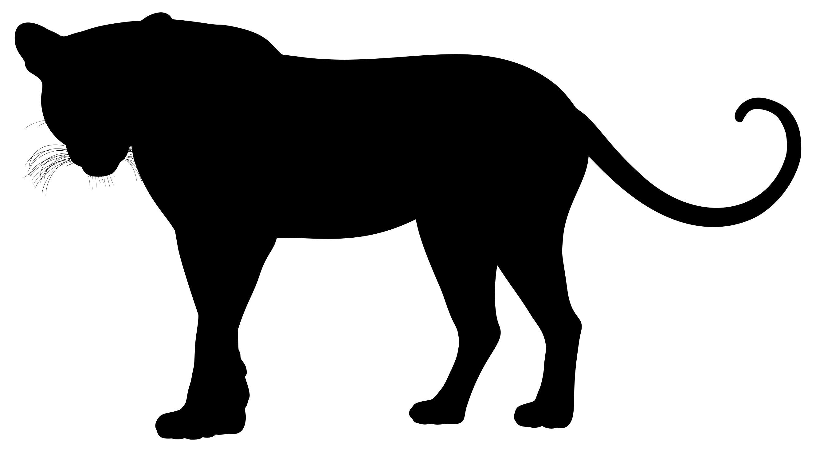 2656x1470 Leopard Silhouette Clipart