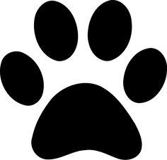 236x227 Panther Paw Print Clip Art