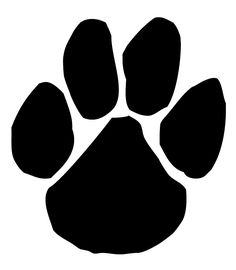 236x270 Panther Paw Print Silhouette Clip Art. Download Free Versions