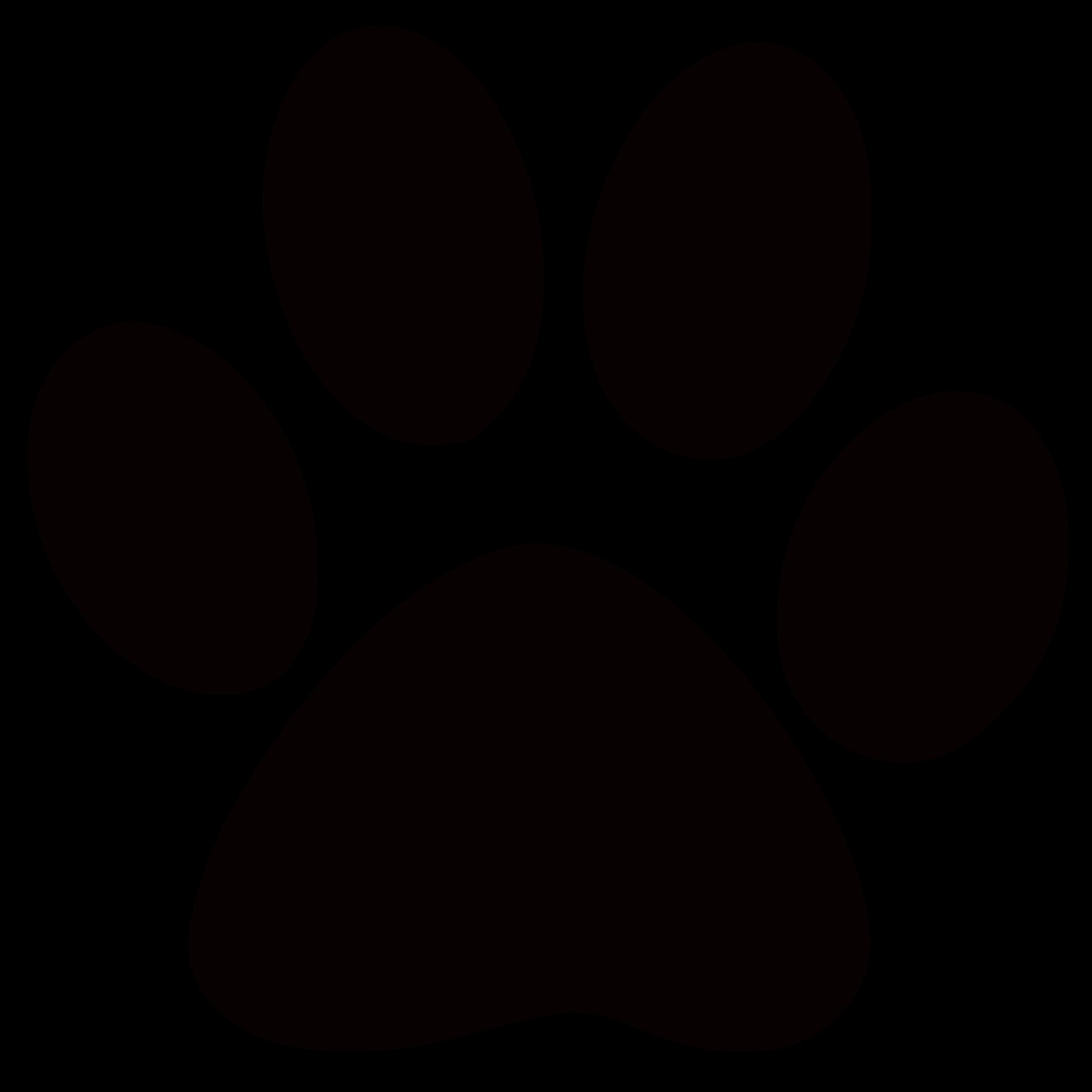 2500x2500 Panther Paw Print Clip Art