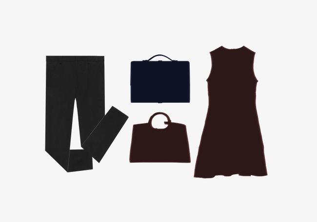 650x456 Men's Trousers Ladies Dresses Silhouette, Men's Pants, Ms. Skirt