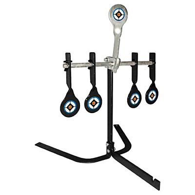 400x400 Steel Shooting Targets Spinning Auto Reset Metal Stand Zombie