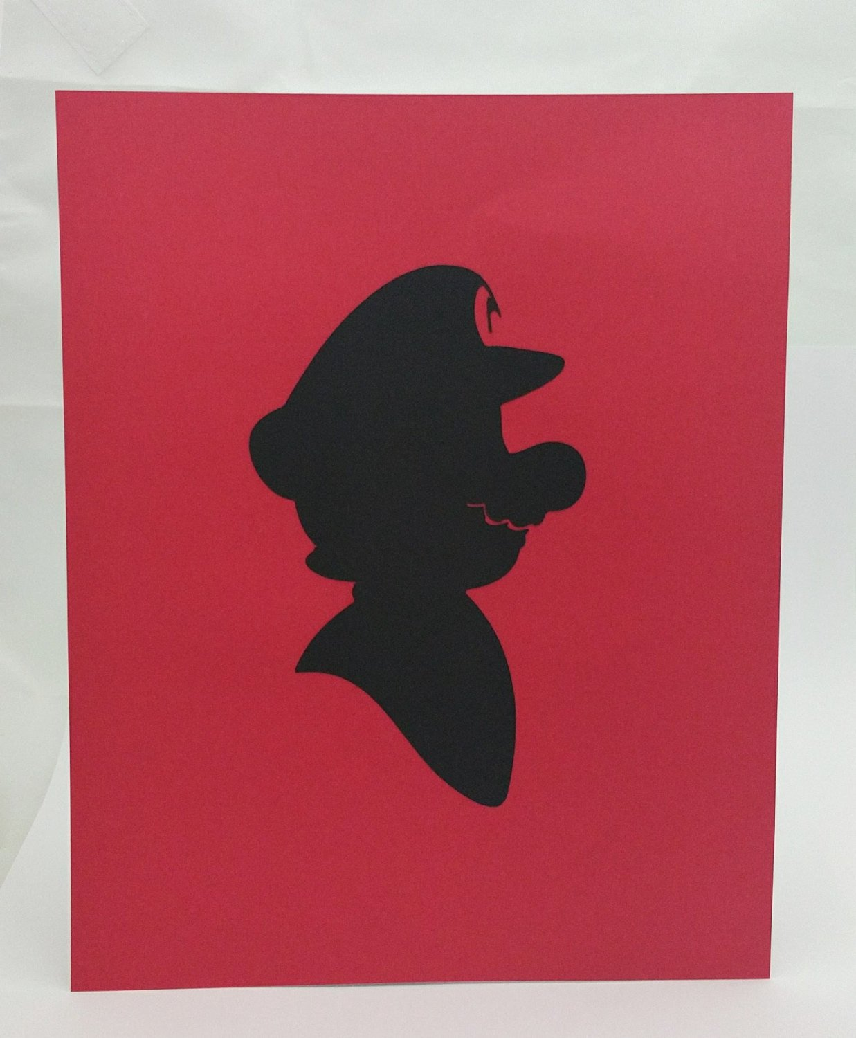 1237x1500 Mario Inspired Cut Paper Silhouette Portrait 8 X 10 Cut Out Art