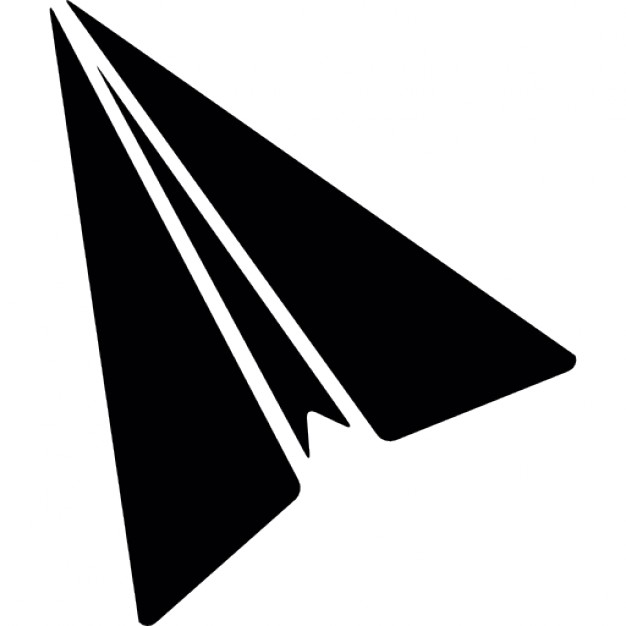 626x626 Paper Airplane Silhouette Icons Free Download