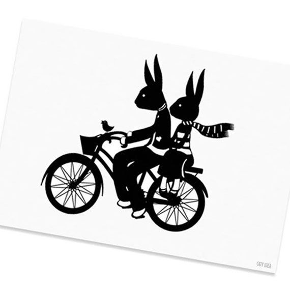 570x570 Rabbit And Hare Bicycle Bunnies