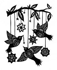 196x240 Birds031313 Silhouettes, Paper Cutting And Stenciling