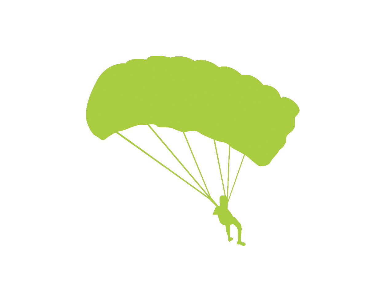 1252x916 Parachute Silhouette Illustration