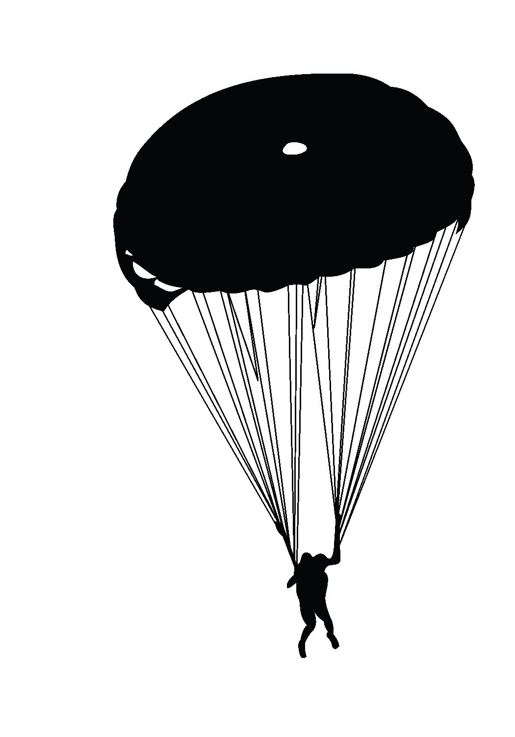 1050x1502 Parachute Silhouette Parachuting