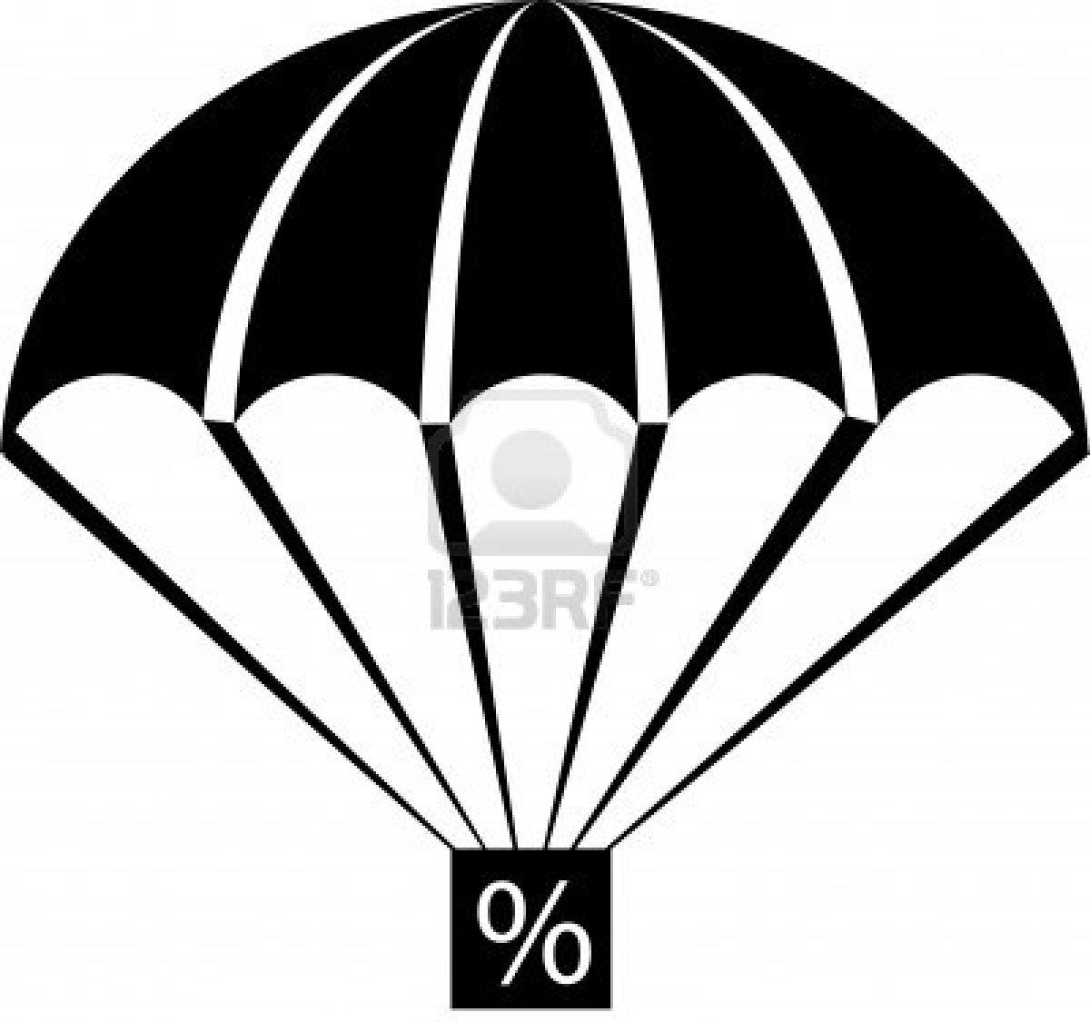 1200x1125 Parachute Clipart Vector