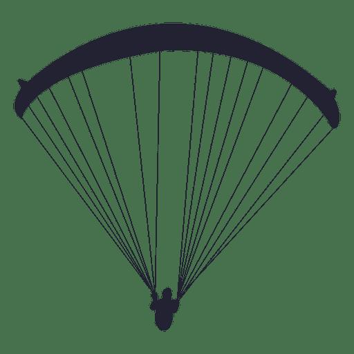512x512 Parachute Gliding Sport Silhouette