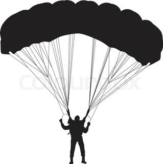 319x320 Parachutist Silhouette Vector Stock Vector Colourbox