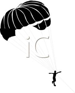 242x300 Silhouette Of A Man Parachuting
